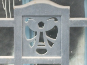 Detail of a bee (forged iron) in a house at the Avenue de Tervuren in Brussels
