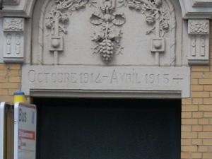 House built 1914-1915 in Avenue Chazal (Schaerbeek)