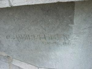 Signature of architect G. Knippenberg (1911)