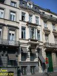 Façade of the house by architect Oscar Simons in rue du Congrès