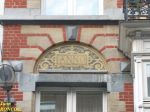 """Another """"pharmacie"""" (built in 1887): sgraffito displaying the year 1887"""
