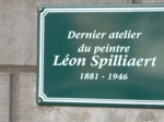 Last workshop of painter L. SpillIaert (close to Avenue Lepoutre in Ixelles)